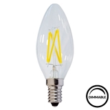 Show details for LED Filament Candle Bulb C35 E14 DIMMABLE 4w~32w