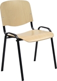 Show details for Home4you Office Chair Big Plywood Black 075145