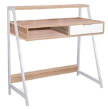 Show details for Single Meble Writing Desk Biurko B171 Oak White