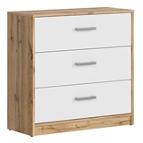 Show details for Black Red White Matos Drawer Wotan Oak/White