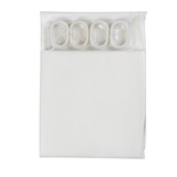 Show details for Bath curtain with hooks Futura PED-009, 180x180cm