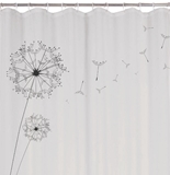 Show details for Rayen Dandelion Shower Curtain 180x200cm
