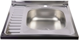 Show details for Diana Kitchen Sink Right Chrome 600x600mm