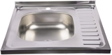 Show details for Diana Kitchen Sink Left Chrome 600x600mm