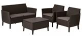 Show details for Keter Salemo 2 Seater Lounge Set Brown