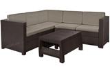 Show details for Keter Provence Garden Furniture Set Brown