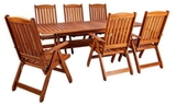 Show details for Folkland Timber Folding Garden Set Bavaria 6 Brown