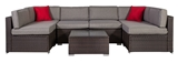 Show details for Home4you Cliff Garden Furniture Set Brown