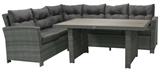 Show details for Home4you Pavia Corner Sofa And Table Set Dark Gray