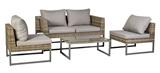 Show details for Home4you Emilia Garden Furniture Set Gray