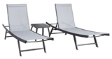Show details for Home4you Ario Sunbathing Furniture Set Gray