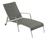 Show details for Home4you Beverly Deck Chair Gray