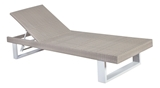 Show details for Home4you Bruno Lounger White / Gray