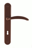 Show details for DOOR HANDLE ETA 72MM ATSL. BROWN (BARCZ)