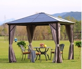Show details for Home4you Sunset Gazebo w / Plastic Roof 3x3m Brown