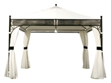 Show details for Home4you Shanghai Garden Gazebo 3.5x3.5m Black / Beige
