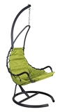 Show details for Home4you Daisy Hanging Chair Green