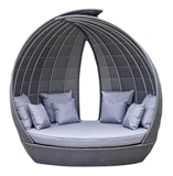 Show details for HOME$YOU WING SOFA W / ROOF GREY