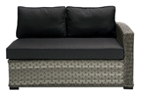 Show details for HOME4YOU MODULE SOFA GENEVA RIGHT ARMREST GREY
