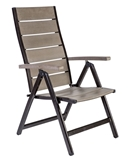 Show details for Home4you Monta Foldable Garden Chair Gray