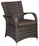 Show details for Home4You Chair Wicker 5 Dark Brown