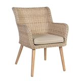 Show details for Home4you Retro Garden Chair Natural Rattan
