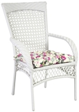 Show details for Home4You Chair Wicer White