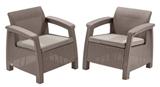 Show details for Keter Corfu Duo Garden Chair Set Beige