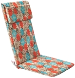 Show details for Home4you Chair Cover Simple 50x120x3cm Red / Blue Flowers