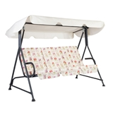 Show details for Home4you Stoccolma Garden Swing 3 Seater White / Dark Gray