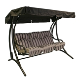Show details for Home4you Montreal Garden Swings 3 Seat Brown