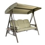 Show details for Home4you Cairo Garden Swing 3 Seater Beige