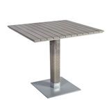 Show details for Home4you Larache Garden Table 80x80x75cm Gray