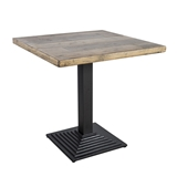 Show details for Home4you Raft Garden Table 75x75x74.5cm Faded Tree / Black