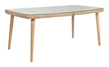 Show details for Home4you Retro Garden Table Natural Rattan