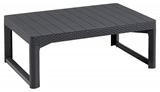 Show details for Keter Lyon Coffee / Dining Table Rattan Gray