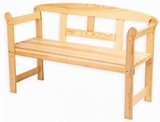 Show details for Folkland Timber Garden Bench Friiz Box Natural