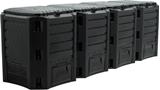 Show details for Prosperplast Composter Module 4-Sections 1600L Black IKSM1600C