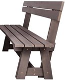 Show details for Folkland Timber Riva Bench with Backrest Graphite