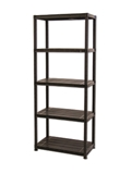 Show details for Storage shelf Platin, 71 x 38 x 170 cm