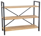 Show details for Signal Meble Loras R3 Storage Shelf 100x120cm Oak
