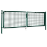 Show details for Double gates, 4000x1500 / 1450 mm, green