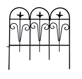Show details for Decorative fence black, 30x30 cm