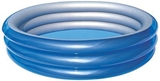Show details for Bestway Big Mettalic Pool Blue/Silver 51043