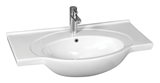 Show details for Ceramic sink Riva 80x50,5x22,7cm, white