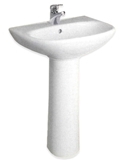 Show details for Bathroom sink with foot Jika Zeta 19390, white