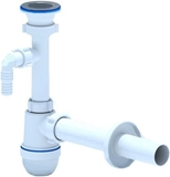 Show details for Ani Plast C0304CTEU Siphon with Washing Machine Outlet/Long Pipe 1 1/2'' 40mm