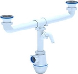 Show details for Ani Plast ET00351 Double Siphon with Washing Machine Outlet 1 1/2'' 40-50mm