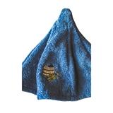 Show details for Bath cap with tub picture, blue 100% cotton