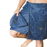 Show details for Bath apron 55x150 cm, blue 100% cotton